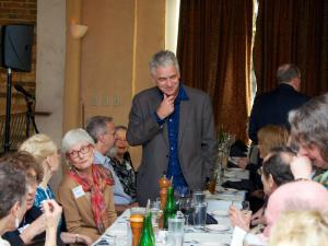 Music Director Grant Llewellyn and guests at West Side Story Pre-Concert Dinner and Discussion